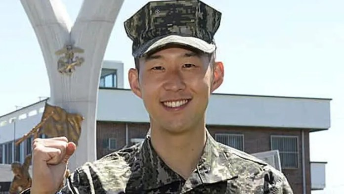 Tottenham's striker Heung-Min Son completes his Military Training