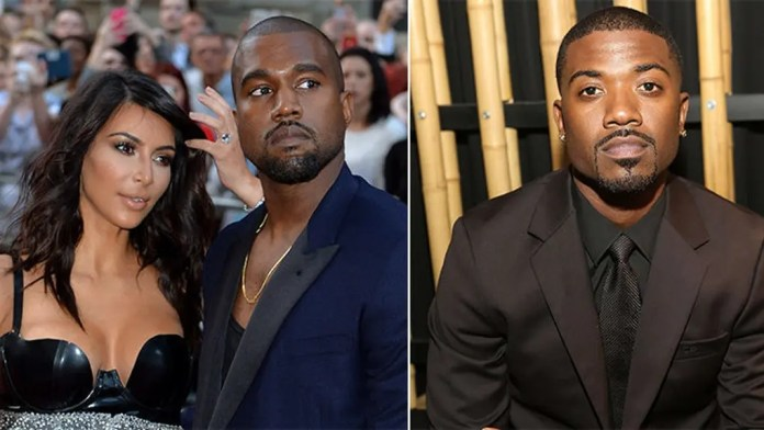 Kanye West has Ray J's face edited out of Kim's s.e.x tape and replaces it with his
