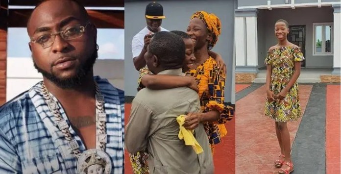 This is every parent's dream: Davido speaks after seeing Emmanuella's mansion she built for her mum