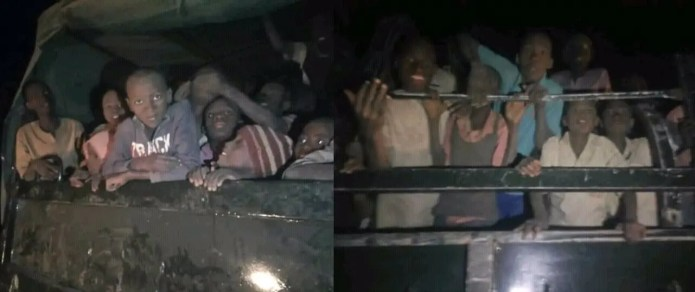 Pics of the Kankara school boys being conveyed home after being released