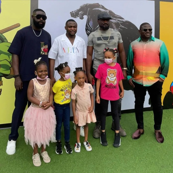 Reactions, as Ubi Franklin and Lilian Esoro celebrate their son's 5th birthday in style