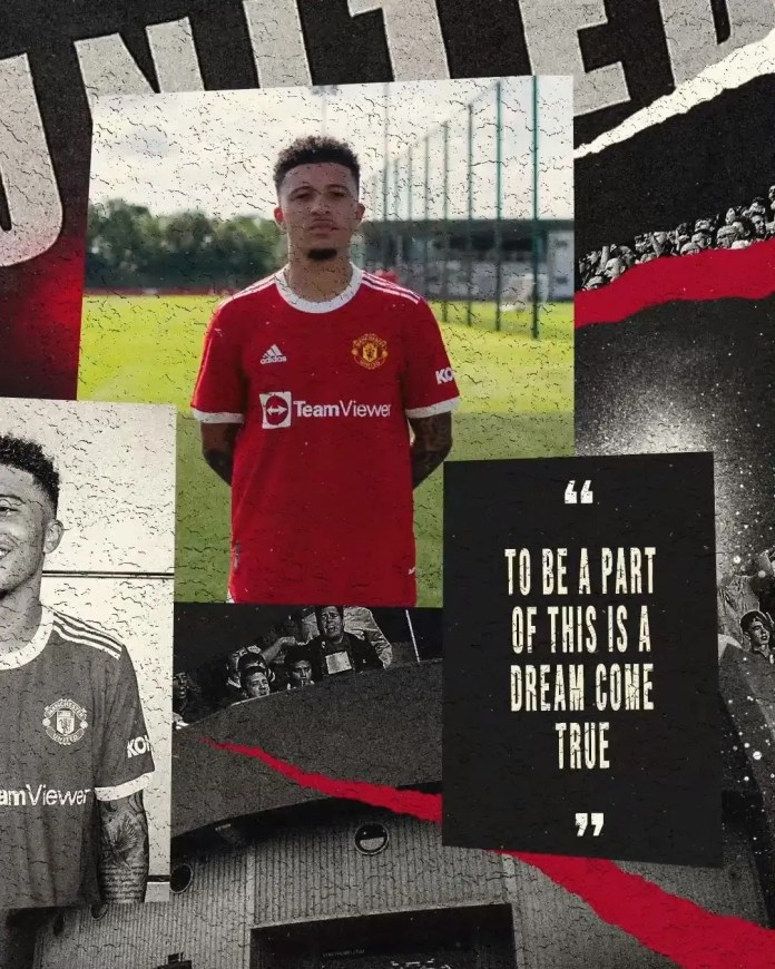 Manchester United official complete the signing of Jadon Sancho