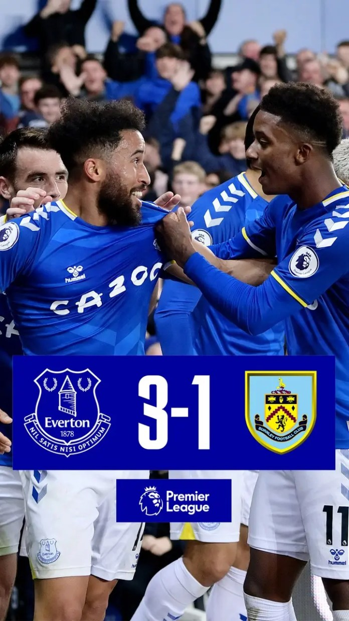 Andros Townsend scores a stunner as Everton demolished Burnley 3 – 1