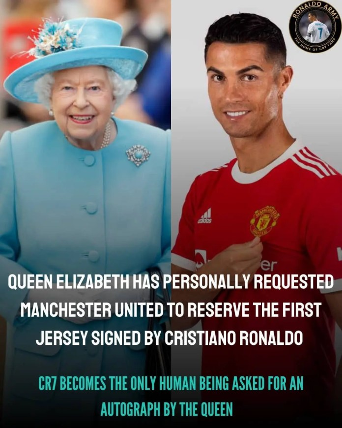 Queen Elizabeth II demands first signed Cristiano Ronaldo Man United jersey with 80 orders for staff.
