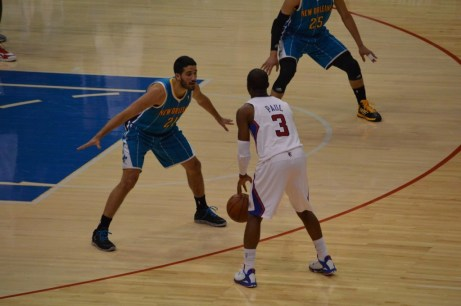 Paul (3) and the Clippers tied a franchise mark against the New Orleans Hornets. Photo Credit: Ronald Jenkins
