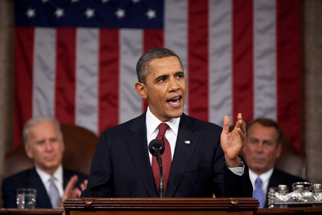 President Barack Obama, delivering his 2012 State of the Union Address earlier this year, is working hard to balance the country's budget. White House Official Photo: Pete Souza