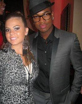 Brittany Smooch with hip hop crooner Ne-Yo.