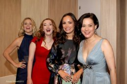 Ali-Liebert.-Charlotte-Hegele.-Jodi-Balfour.-Meg-Tilly.Reelz-Channels-Bomb-Girls. Photo: Erlinda Olvera / News4usonline.com
