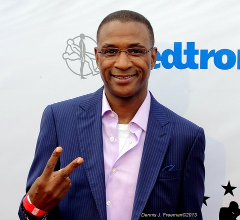 Actor/comedian Tommy Davidson (In Living Color) shows his support in the fight against juvenile diabetes. Photo Credit: Dennis J. Freeman