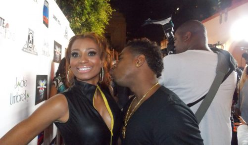 Bobby Valentino going in for the kiss...