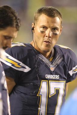 Philip Rivers #17 of the Chargers during the game. The Seattle Seahawks defeated the San Diego Chargers by the final score of 31-10 in a preseason game at Qualcomm Stadium in San Diego CA. Photo: Kevin Reece/News4usonline.com