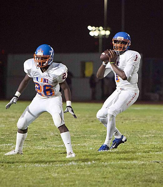 University quarterback Dominick Heads look to throw. Photo Credit: Jevone Moore/Full Image 360