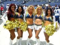 The Charger Girls are a big attraction.