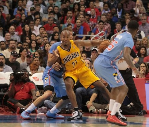 The Clippers are going to have to figure out ways to slow dominant big men like the Pacers' David West. Photo Credit: Jevone Moore/News4usonline.com