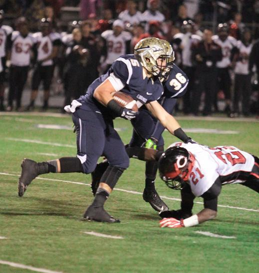 St. John Bosco running back Sean McGrew had a big night against Corona Centennial with seven touchdowns. Photo Credit: Jevone Moore/Full Image 360