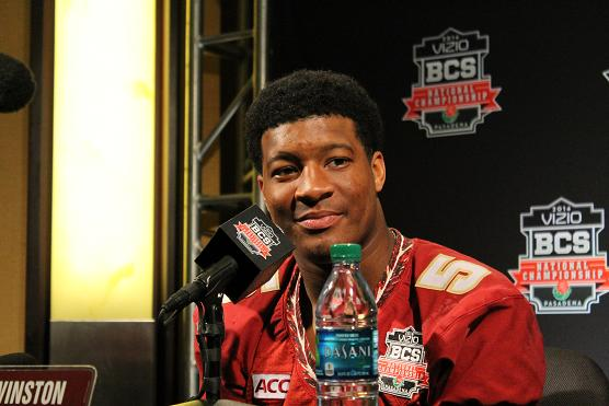 The NCAA and college football  made a lot of money off of the BCS National Championship    Game, which Florida State quarterback Jameis Winston and his  team won. Photo: Dennis J. Freeman