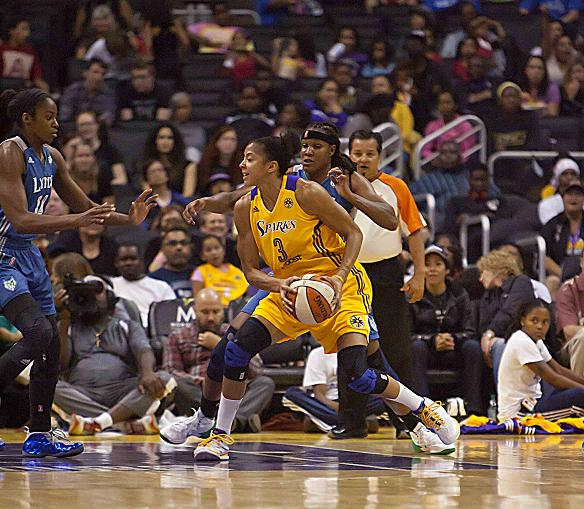 Candace Parker received her second WNBA MVP Award after the 2013 season. Photo: Jevone Moore/News4usonline.com