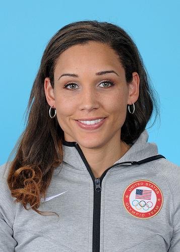 Team USA bobsled member and track star Lolo Jones. Photo courtesy of Team USA