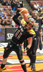 QB J.J. Raterink celebrating his 1 yard 4th qtr Touchdown. Photo Credit : Jordon Kelly / News4usonline.com
