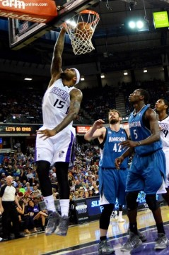 More DeMarcus Cousins doing work against the Timberwolves at Sleep Train Arena. Photo Credit: Dennis J. Freeman Jr./News4usonline.com
