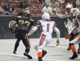 LA Kiss Return Man AJ Cruz (23) on 58 yard Missed Field Goal Return for a touchdown. Photo Credit: Jordon Kelly / News4usonline.com