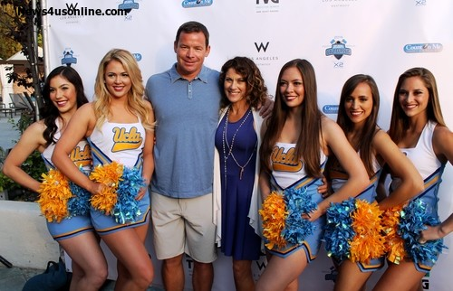 UCLA football coach Jim Mora and wife, Shannon Mora, on the eve of the Jim Mora Celebrity Golf Classic, a charity event that benefits the Count on Me Foundation that the husband and wife duo founded. Photo Credit: Dennis J. Freeman/News4usonline.com