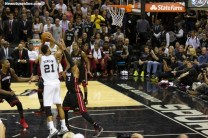 The Big Fundamental Tim Duncan goes up for a shot against the Miami Heat during the 2014 NBA Finals. Photo Credit: Antonio Uzeta/News4usonline.com