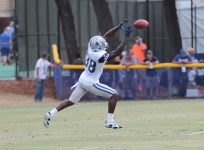 """Dez """"X"""" Bryant stretching out for a catch.Photo by Jevone Moore/ Full Image360/ News4usonline.com"""