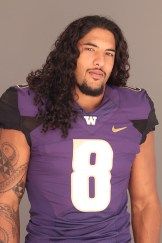 Washington Outside Linebacker Hau'oli Kikaha showing his softer side for the camera.Photo by Jevone Moore / News4usonline.com