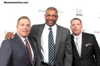 LA Clippers coach Doc Rivers with David and Dana Pump. Photo Credit: Dennis J. Freeman/News4usonline.com