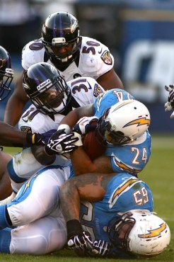 Ryan Mathews carrying the load against the Baltimore Ravens. Photo Credit: Jon Gaede/News4usonline.com