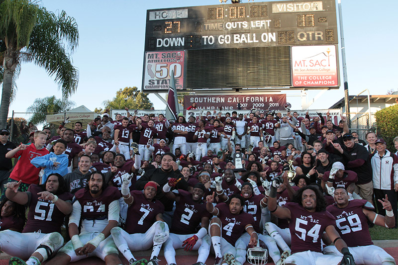 Mt.Sac 2014 State Champions on the hill to celebrate. Photo by Jevone Moore / Full Image 360 / News4usonline.com