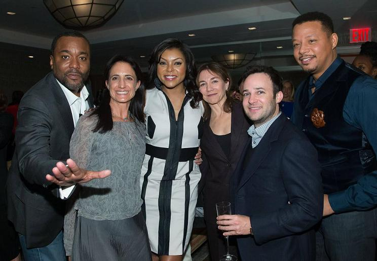 EMPIRE: EMPIRE Fans attend an exclusive screening for EMPIRE followed by cocktails and conversation with Executive Producers at The Crosby Street Hotel in New York on Monday, Oct. 27. Pictured L-R: Executive Producers Lee Daniels, Francie Calfo, Actress Taraji P. Henson, EP Ilene Chaiken, EP Danny Strong and Actor Terrence Howard. ©2014 Fox Broadcasting Co. CR: Ben Hider/FOX