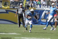 Branden Oliver breaks clear for some running room against the Kansas City Chiefs at Qualcomm Stadium on Sunday, Oct. 19. Photo Credit: Kevin Reece/News4usonline.com