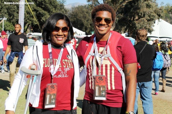 Smiles before the rampage that Oregon put on the Seminoles at the Rose Bowl. Photo by Dennis J. Freeman/News4usonline.com