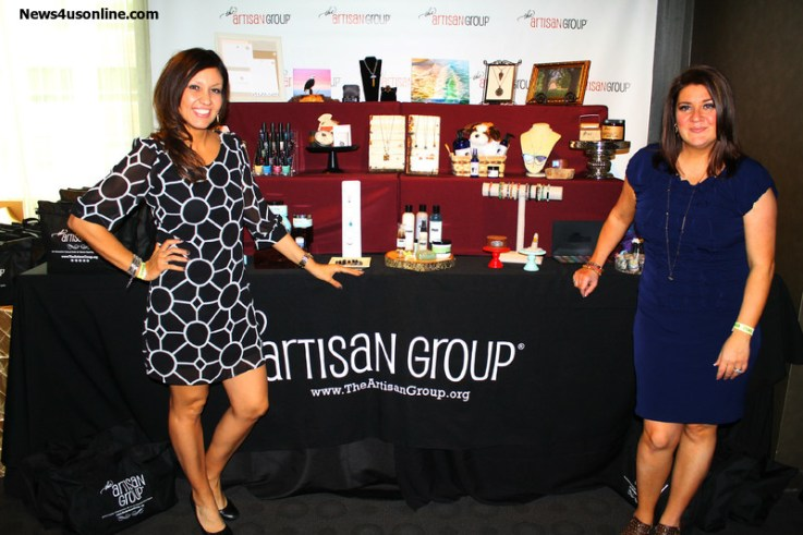 The Artisan Group and owner Valerie Guerrero (right) once again made the stars swoon over the fabulous products they offer. Photo by Dennis J. Freeman/News4usonline.com