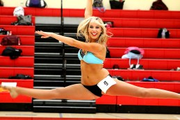 Tyra Dumont flashes her winning smile and dance moves in front of the judges during the LA Clippers Spirit Dance Team tryouts in Redondo Beach, California. Photo by Dennis J. Freeman/News4usonline.com