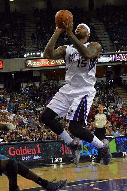 Sacramento Kings center DeMarcus Cousins was unstoppable against the Phoenix, collecting 28 points and 12 rebounds and scoring the game-winning shot as time expired. Photo by Dennis Freeman Jr./News4usonline,com