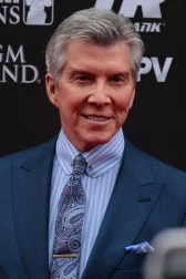 Longtime ring announcer Michael Buffer at the Mayweather-Pacquiao press conference in Los Angeles. Photo Credit: Jevone Moore/News4usonline.com