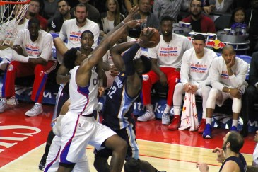 Though he only recorded two blocks for the game, DeAndre Jordan's presence in the paint kept the Grizzlies' scorers at bay during the Clippers' 94-86 win. Photo Credit: Dennis J. Freeman/News4usonline.com