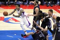 Matt Barnes leading the fastbreak against the Grizzlies. Photo Credit: Dennis J. Freeman/News4usonline.com