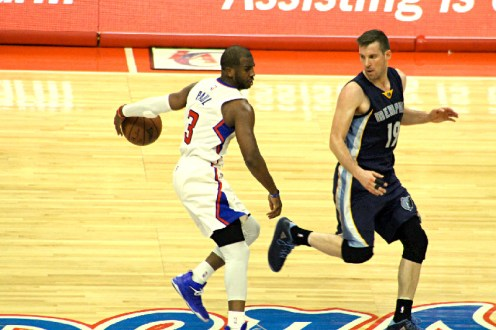 Chris Paul trying to make something happen against the Grizzlies. Photo Credit: Dennis J. Freeman/News4usonline.com