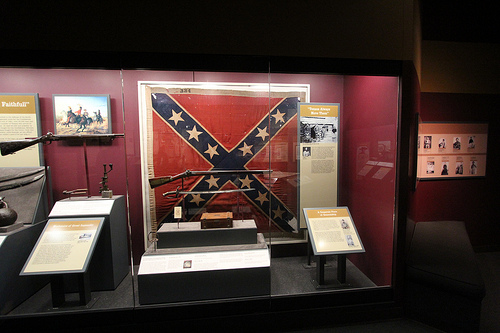 photo credit: TSLAC Historic Flag Being Installed at the Bullock Museum 2.21.13 via photopin (license)
