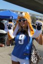 This Detroit fans is all Lion-upped in support of her team. Photo by Dennis J. Freeman/News4usonline.com