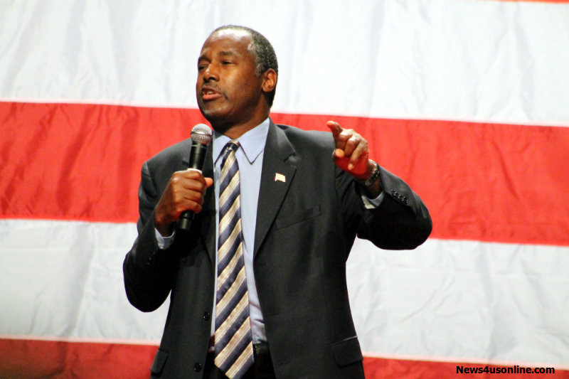 Dr. Ben Carson has seen his poll numbers go up since his appearance in Anaheim, California. Photo by Dennis J. Freeman/News4usonline.com