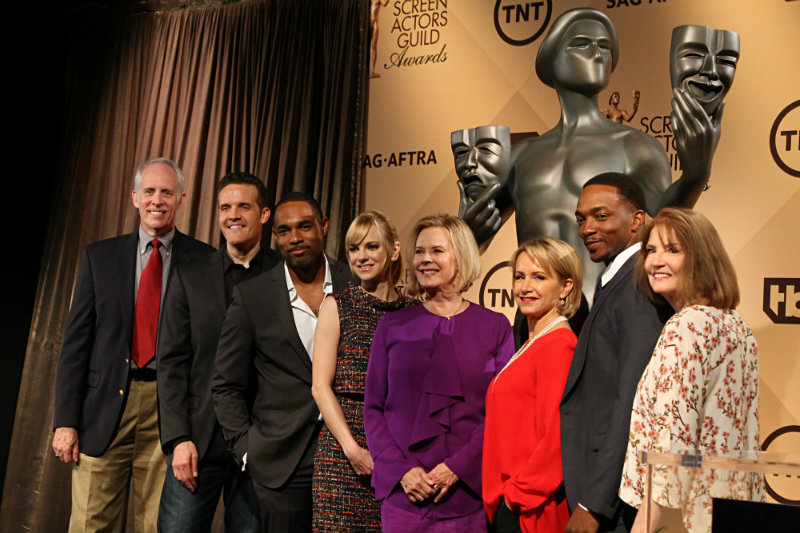 Actors Anna Faris (fourth left) and Anthony Mackie (second right), made the nominations announcements for the 22nd Annual Screen Actors Guild Awards. Photo by Dennis J. Freeman/News4usonline.com