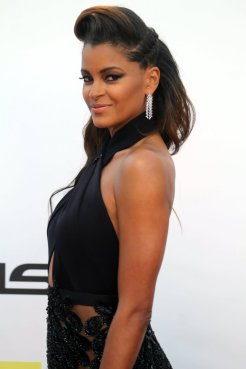 Claudia Jordan strikes a pose for the cameras. Photo by Dennis J. Freeman/News4usonline.com