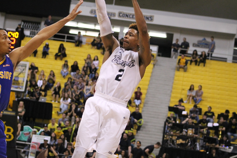 Long Beach State's Nick Faust scored a team-high 17 points in leading the 49ers to a tough 66-55 win.