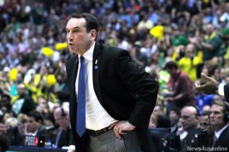 Duke coach Mike Krzyzewski