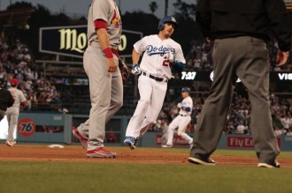 The Dodgers' bats came alive against the Cardinals in Game 1 and Game 2, as Los Angeles outscored St. Louis 13-7 to win those two games. Photo by Astrud Reed/news4usonline.com